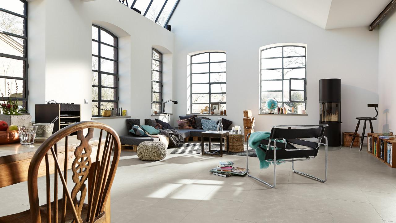 meister nadura boden nb 400 sandstein lichtgrau 6313 fliesenoptik laminat. Black Bedroom Furniture Sets. Home Design Ideas