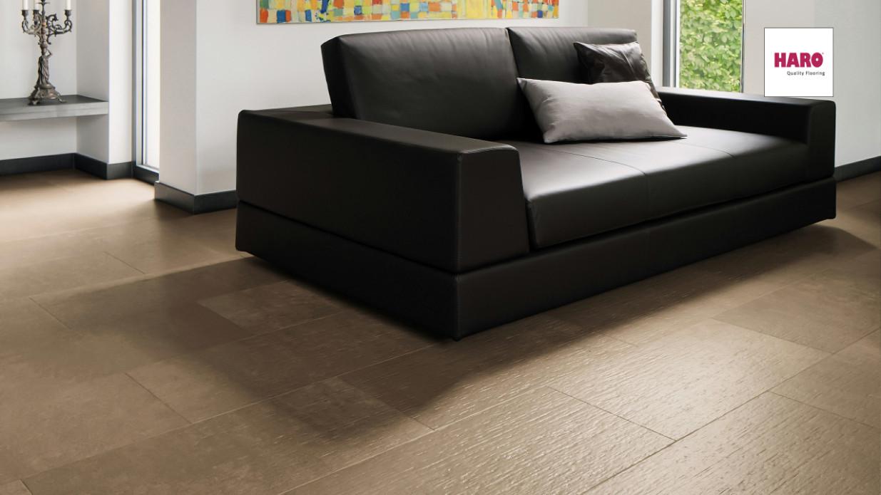 haro celenio celenio attika terra felssteindesign umlaufende fase fliesenoptik laminat. Black Bedroom Furniture Sets. Home Design Ideas