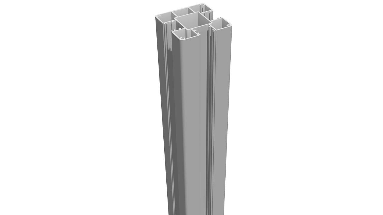 planeo alumino pfosten zum aufd beln silbergrau 190cm gartenz une terrasse. Black Bedroom Furniture Sets. Home Design Ideas
