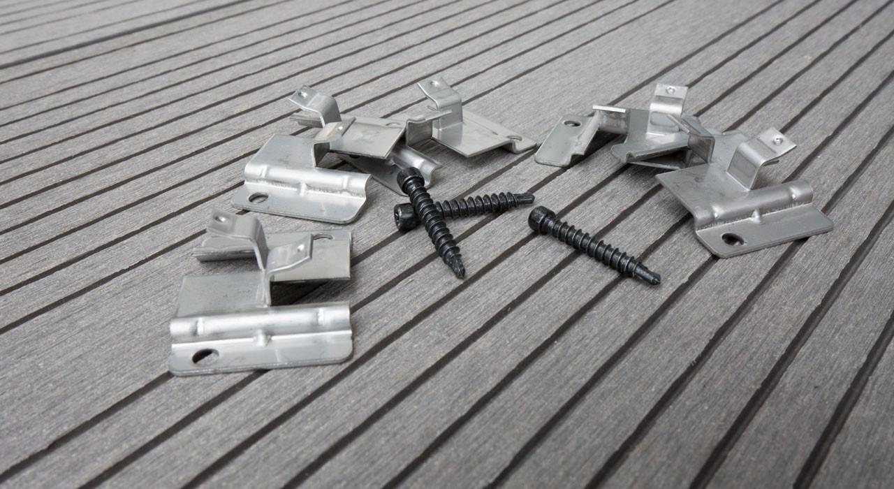 Planeo Edelstahl-Terrassenclip WPC-Profi 4mm Fuge