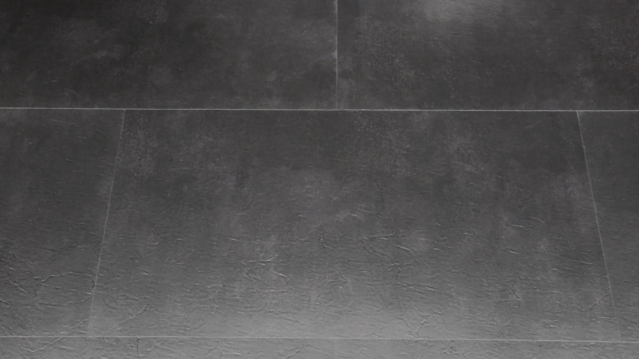 Vinylboden Sonderposten Schiefer Black Klebevinyl Fliese Xcm - Klebevinyl auf fliesen kleben