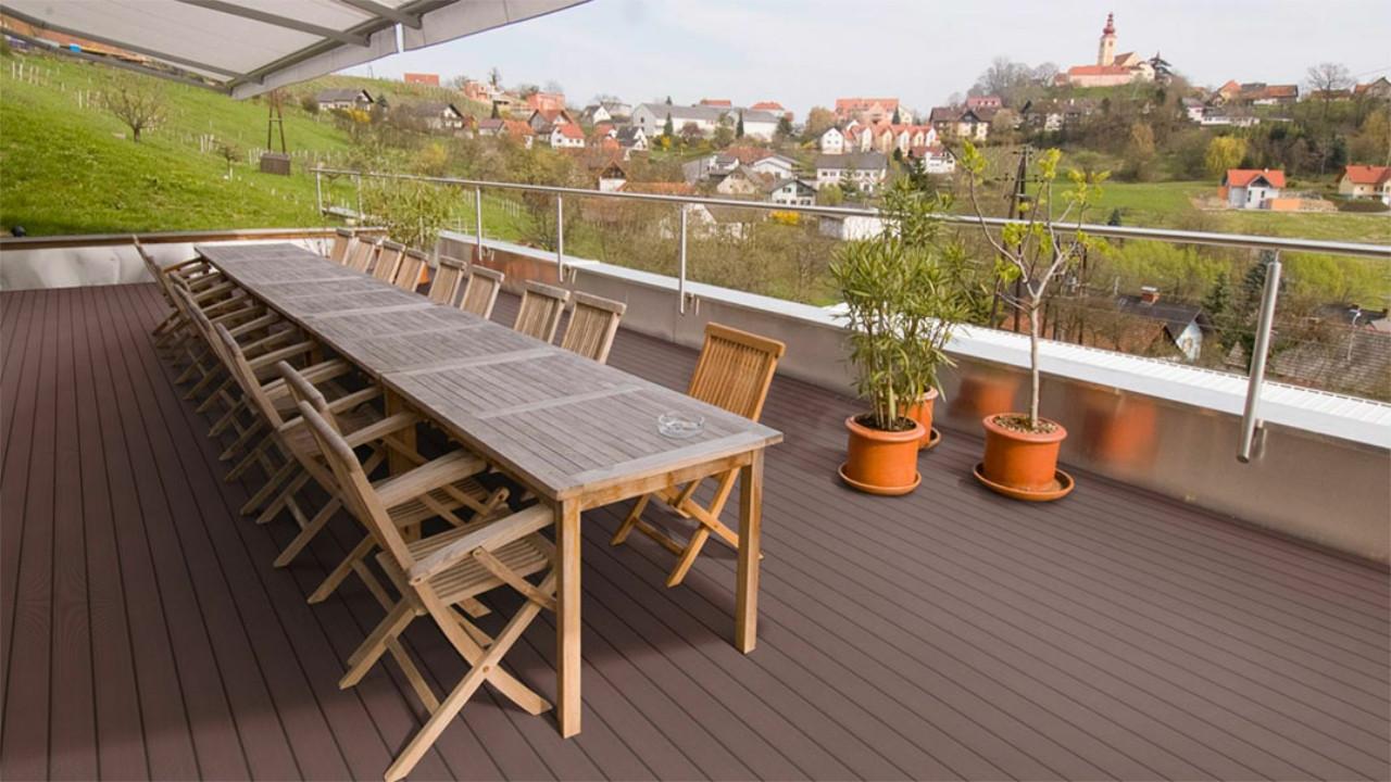 planeo wpc massivdiele dunkelbraun gepr gt geriffelt terrassendielen terrasse. Black Bedroom Furniture Sets. Home Design Ideas