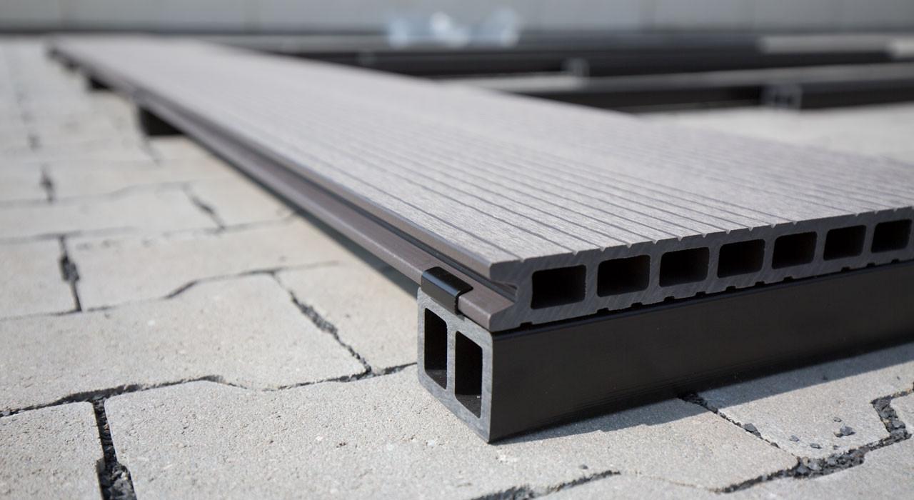 planeo wpc - unterkonstruktion für terrassendielen 2.2m - terrassen