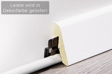 planeo Sockelleiste / Fußleiste Oak Grey  18,5 x 38,5  mm