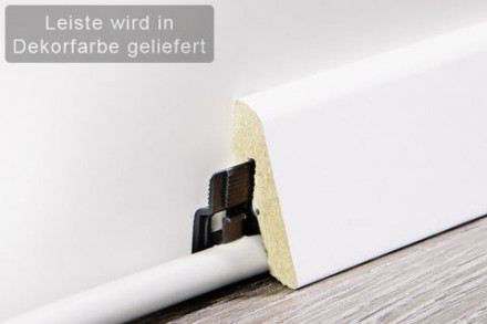planeo Sockelleiste / Fußleiste Tirol Oak Silver 18,5 x 38,5 mm