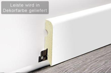 planeo Sockelleiste / Fußleiste White Desire 15 x 70 mm