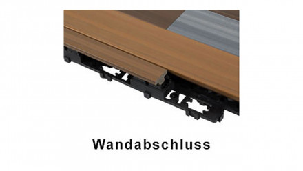 planeo WPC Wandabschluss-Set - UCD - Teak