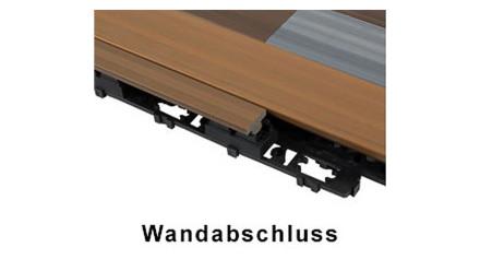 planeo WPC Wandabschluss-Set - UCD - Walnuss