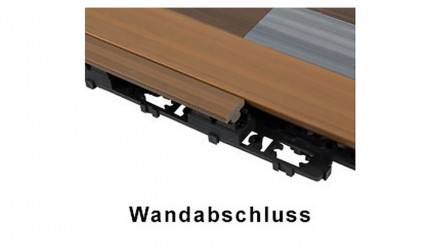 planeo WPC Wandabschluss-Set - UCD - Hellgrau