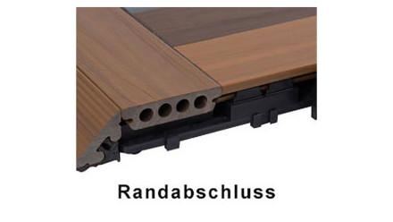 planeo Terrassendielen Randabschluss-Set - UCD - Hellgrau - 3 St.