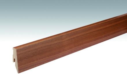 MEISTER Sockelleisten Fußleisten Nussbaum 015 - 2380 x 60 x 20 mm