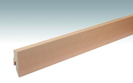 MEISTER Sockelleisten Fußleisten Buche 019 - 2380 x 60 x 20 mm