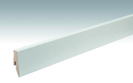 MEISTER Sockelleisten Fußleisten Eiche weiß deckend 1079 - 2380 x 60 x 20 mm