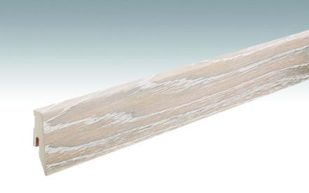 MEISTER Sockelleisten Fußleisten Eiche polarweiß gekälkt 1200 - 2380 x 60 x 20 mm