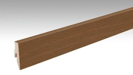 MEISTER Sockelleisten Fußleisten Eiche braun 1235 - 2380 x 60 x 20 mm