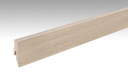 MEISTER Sockelleisten Fußleisten Eiche weiß 1236 - 2380 x 60 x 20 mm