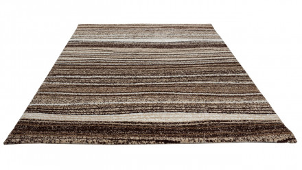 planeo Teppich Streifen BraunBeige