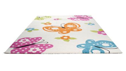planeo Teppich Kids Schmetterling 120 x 170cm