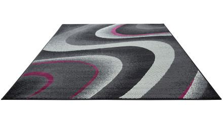 planeo Teppich Lotus Schwarz