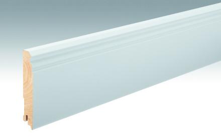 MEISTER Sockelleisten Fußleisten Weiß DF (RAL 9016) 2266 - 2380 x 100 x 18 mm
