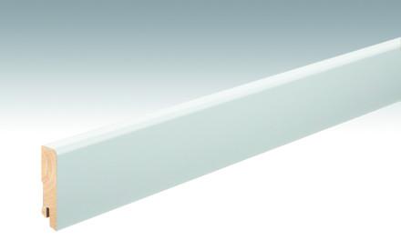 MEISTER Sockelleisten Fußleisten Weiß DF (RAL 9016) 2266 - 2380 x 80 x 18 mm