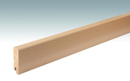 MEISTER Sockelleisten Fußleisten Buche 019 - 2380 x 60 x 16 mm