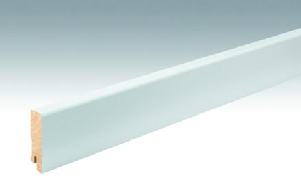 MEISTER Sockelleisten Fußleisten Weiß DF (RAL 9016) 2266 - 2380 x 60 x 16 mm