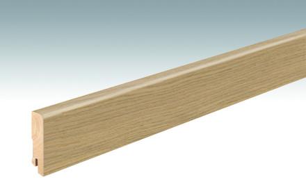 MEISTER Sockelleisten Fußleisten Eiche cremeweiß 1251 - 2380 x 60 x 16 mm