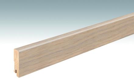 MEISTER Sockelleisten Fußleisten Eiche weiß 1252 - 2380 x 60 x 16 mm