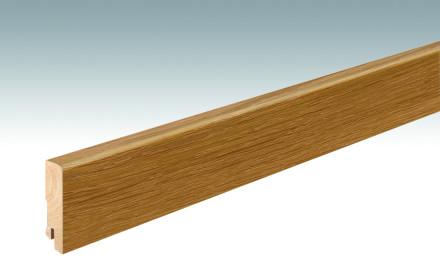 MEISTER Sockelleisten Fußleisten Eiche braun 1253 - 2380 x 60 x 16 mm