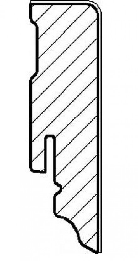 Haro Sockelleisten - 15 x 80mm - Eiche nevara gekalkt