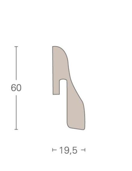 Parador Sockelleisten SL 4 - 19,5x60mm - Eiche silber Dekor