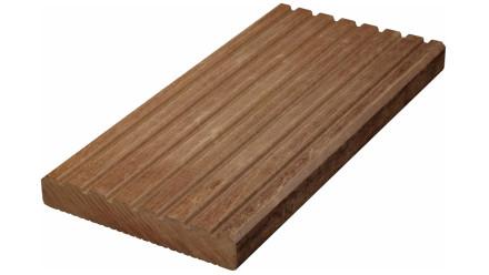 TerraWood Holzterrasse - MASSARANDUBA PRIME 25 x 145 x 4880mm gerillt/genutet