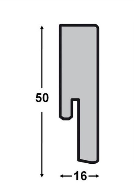 Parador Sockelleisten SL 5 - 16x50mm - Eiche chocolate