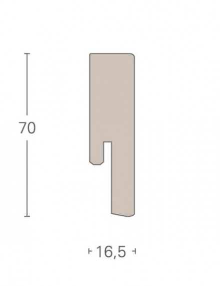 Parador Sockelleisten SL 20 - 16,5x70mm - Eiche geschliffen - furniert
