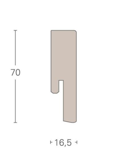 Parador Sockelleisten SL 20 - 16,5x70mm - Eiche lichtergrau - furniert