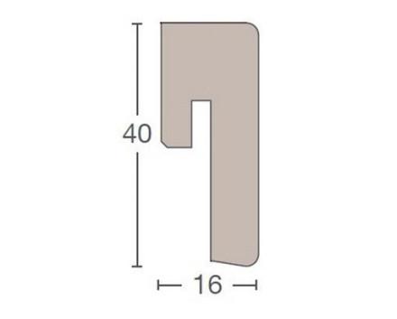 Parador Sockelleisten ASL 3 - 16x40mm - Eiche Millenium