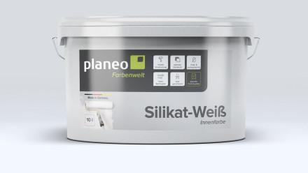 Planeo Silikat-Innenfarbe weiß 10L - stumpfmatt