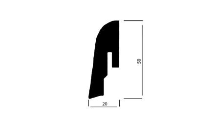 Wicanders Sockelleisten - Kork-Funiert - Struktur Tea - 20x50x2400 mm