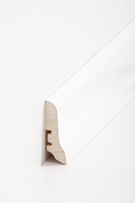 Sockelleisten Südbrock - 22 x 60 mm - Esche weiß lackiert