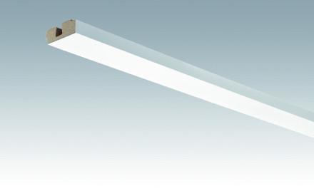 MEISTER Sockelleisten Deckenabschlussleisten Weiß streichfähig DF 2222 - 2380 x 40 x 15 mm