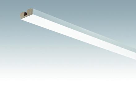 MEISTER Sockelleisten Deckenabschlussleisten Uni weiß glänzend DF 324 - 2380 x 40 x 15 mm