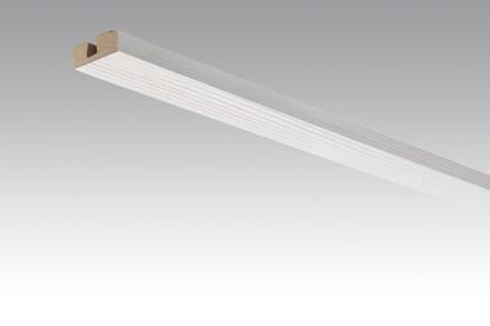 MEISTER Sockelleisten Deckenabschlussleisten Pinie weiß 4005 - 2380 x 40 x 15 mm
