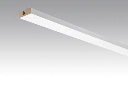 MEISTER Sockelleisten Deckenabschlussleisten Fineline weiß 4017 - 2380 x 40 x 15 mm