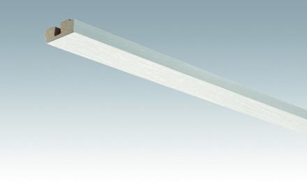 MEISTER Sockelleisten Deckenabschlussleisten Fineline weiß 4029 - 2380 x 40 x 15 mm