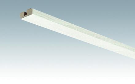 MEISTER Sockelleisten Deckenabschlussleisten Eiche weiß deckend 4069 - 2380 x 40 x 15 mm