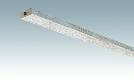MEISTER Sockelleisten Deckenabschlussleisten Eiche vintage weiß 4075 - 2380 x 40 x 15 mm