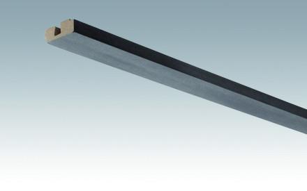 MEISTER Sockelleisten Deckenabschlussleisten Stahl-Metallic 4078 - 2380 x 40 x 15 mm