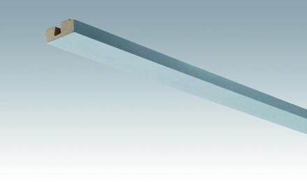 MEISTER Sockelleisten Deckenabschlussleisten Edelstahl-Metallic 4079 - 2380 x 40 x 15 mm