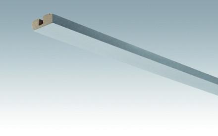MEISTER Sockelleisten Deckenabschlussleisten Aluminium-Metallic 4080 - 2380 x 40 x 15 mm
